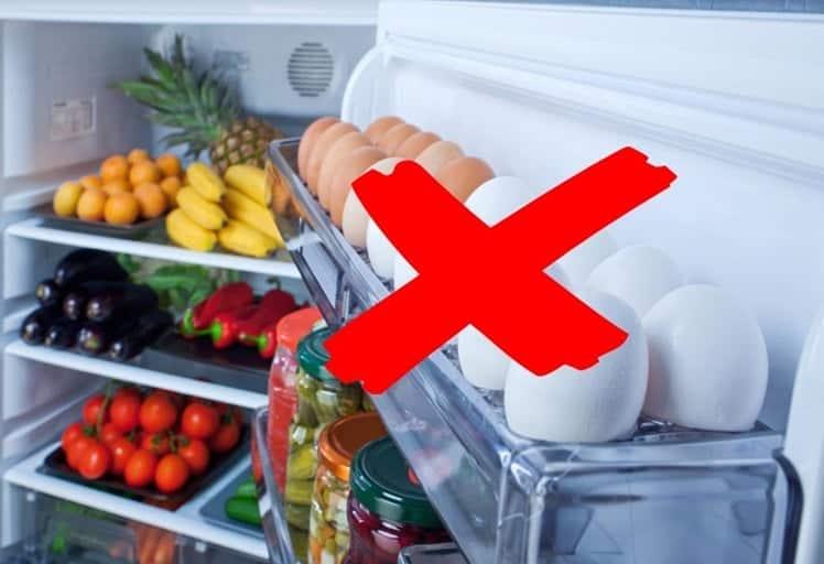 Yumurtaları buzdolabı kapağına sakın koymayın!