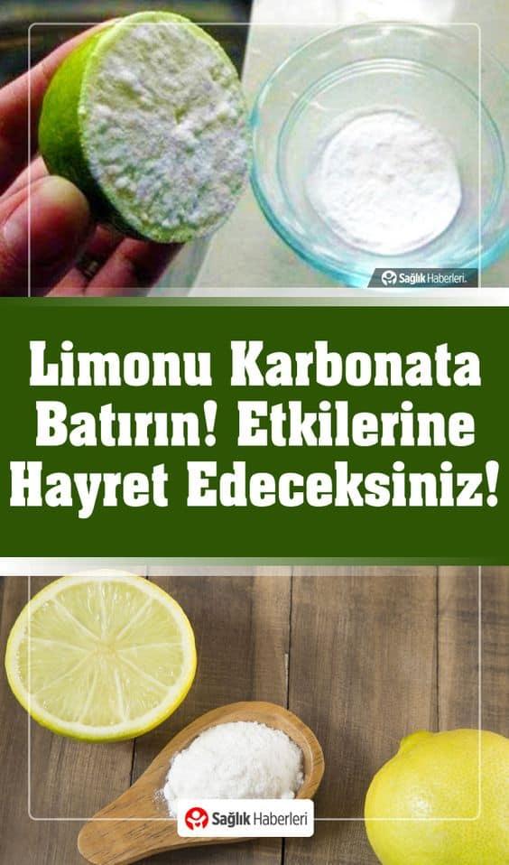 Yarım Limonu Karbonata Batırınca Etkilerine Hayret Edeceksiniz!