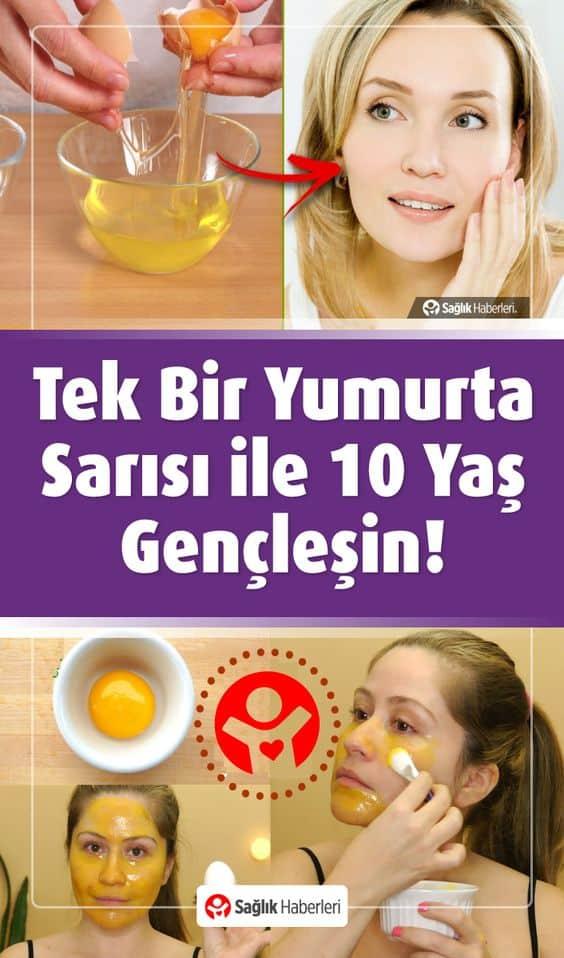 Tek Bir Yumurta Sarısı İle 10 Yaş Gençleşin!