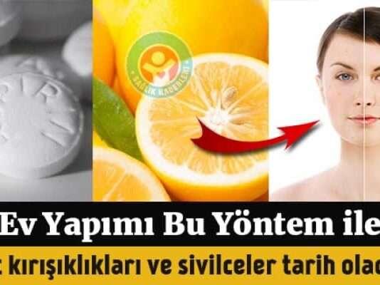 Genç bir görünüm kazandıran aspirin limon maskesi