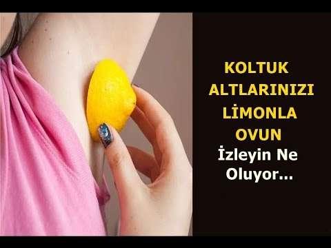 Koltuk altınızı limonla ovarsanız ne olur?