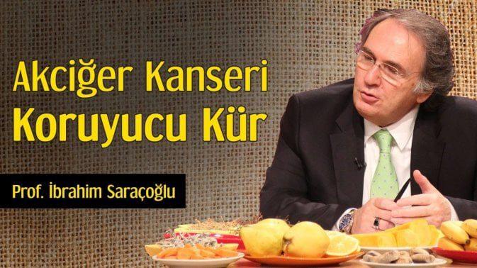 Prof. İbrahim Saraçoğlu'ndan akciğer kanserine karşı koruyucu kür tarifi