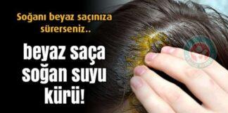Saç beyazlamasına bitkisel çözüm; Soğan suyu kürü
