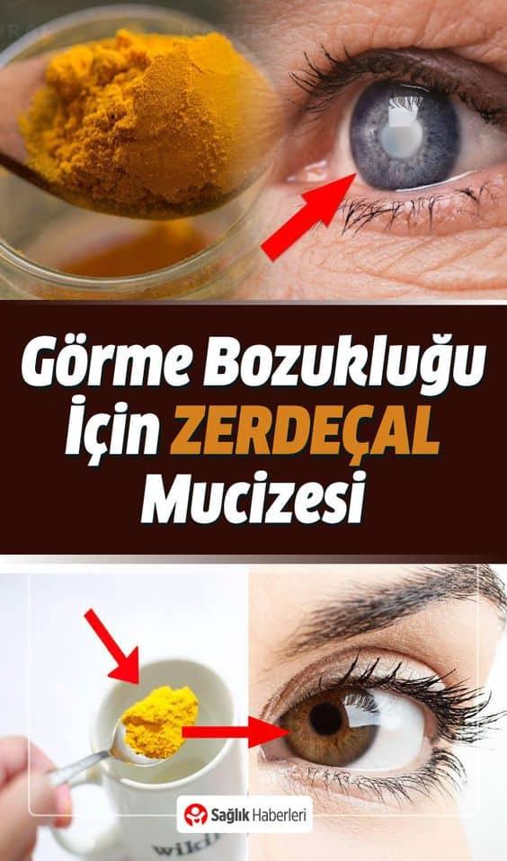 Görme bozukluğu ve göz sağlığı için mucize besin; ZERDEÇAL