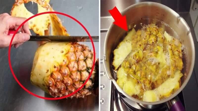 ananas kabugu cayi Ananas Kabuğu Çayı Zayıflatır Mı? Ananas Kabuğu Çayı Nasıl Yapılır?