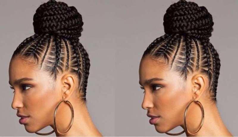 brezilya orgusu topuzu 2019 Saç Modasında Örgülü Topuz Saç Modelleri