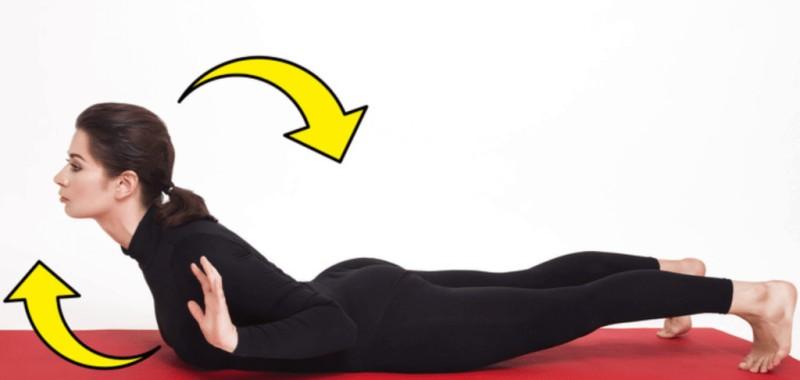 Vücudunuzun üst kısmını yukarı kaldırın