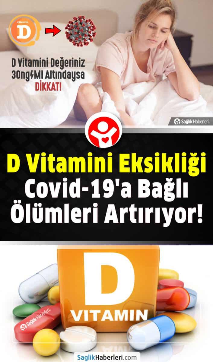 D vitamini eksikliği covid-19\'a bağlı ölümleri artırıyor!