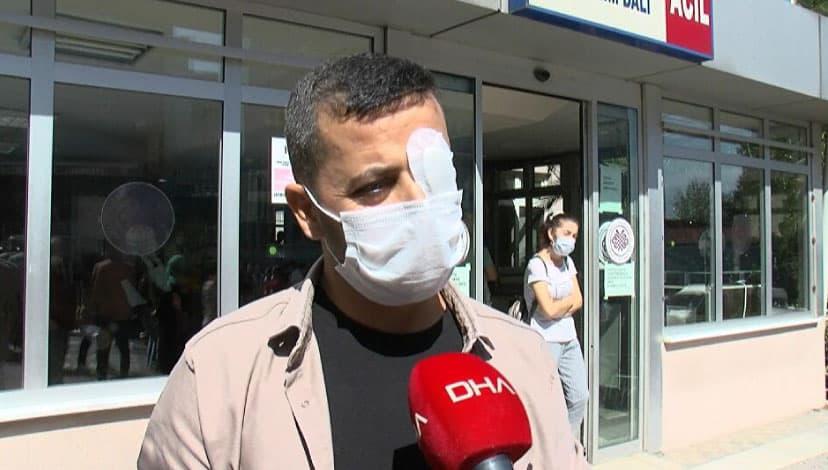 Uğradığı saldırıda gözüne darbe alan sağlık çalışanı taburcu edildi