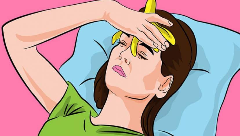 Baş ağrısını veya migreni hafifletmek için alnınıza muz kabuğu koyun!