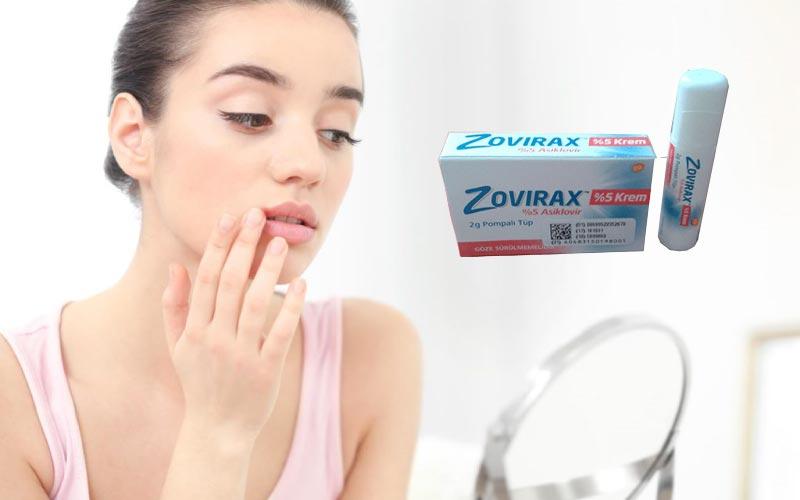 Zovirax krem ağız, burun içine, dudağa, yüze sürülür mü?